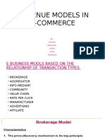 Revenue Models in E-commerce