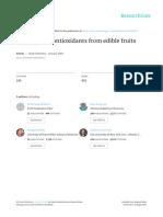Anthocyanin Antioxidants From Edible Fruits