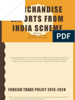 Merchandise Exports From India Scheme