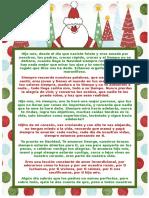 Carta de padres a su hijo por Navidad