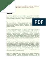 A Dónde Va La Ciencia y Universidad Argentina