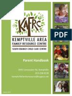 kafrc - parent handbook