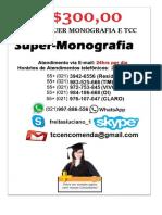 R$350,00 MONOGRAFIA E TCC