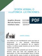 oferta verbal o telefonica - licitaciones