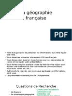 La Geographie Francaise