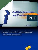 Errores en Traductología
