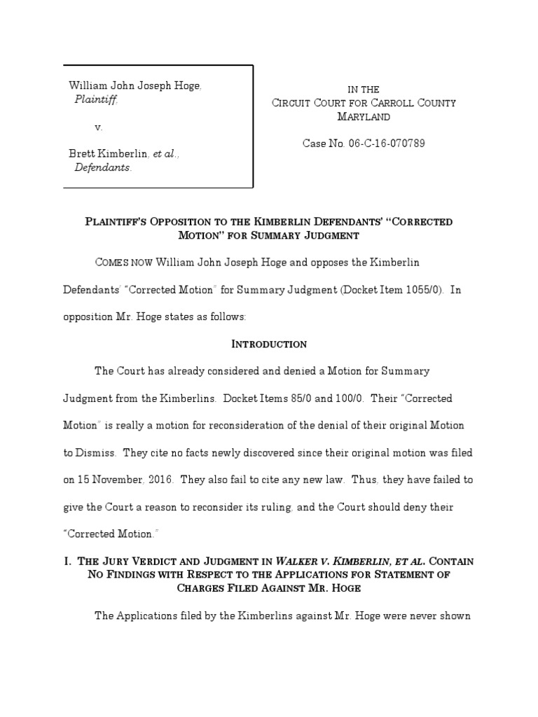Opp to MSJ2 Redacted | Summary Judgment | Lawsuit
