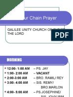 24-Hour Chain Prayer