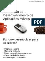 introduçao desenvolvimento de aplicaes moveis workshop