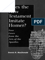 Does the New Testament Imitate - Professor Dennis R. MacDonald