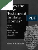 Does the New Testament Imitate - Professor Dennis R. MacDonald