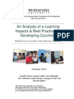 An Analysis of e-Learning Impacts & Best Practices in Developing Countries.pdf