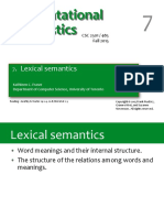 7 Lexical Semantics