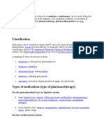Pharmaceutical Drug Classifications