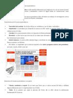 Características y Estructura de La Noticia Periodística