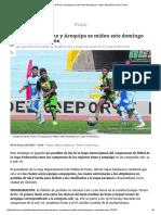Campeones de Puno y Arequipa Se Miden Este Domingo Por Copa Federación _ Diario Correo