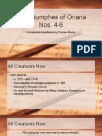 The Triumphes of Oriana Nos 4-6
