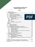 37 Plan de Manejo El Cajas
