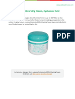 Home Health Hyaluronic Acid Moisturizing Cream Review