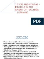 Role of Ugc-cec, C-dit and Edusat In5555
