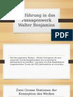 Benjamins Passagenwerk, eine Einführung von R. Tiedemann
