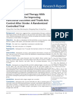 Constraint-Induced Therapy With Trunk Restraint for Improving Functional Outcomes and Trunk-Arm Control After Stroke- A Randomized Controlled Trial