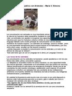 Comunicación Telepática Con Animales – María v. Simona