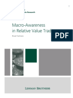 Macro-Awareness in Relative Value Trading