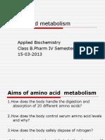 Amino Acid Metabolism