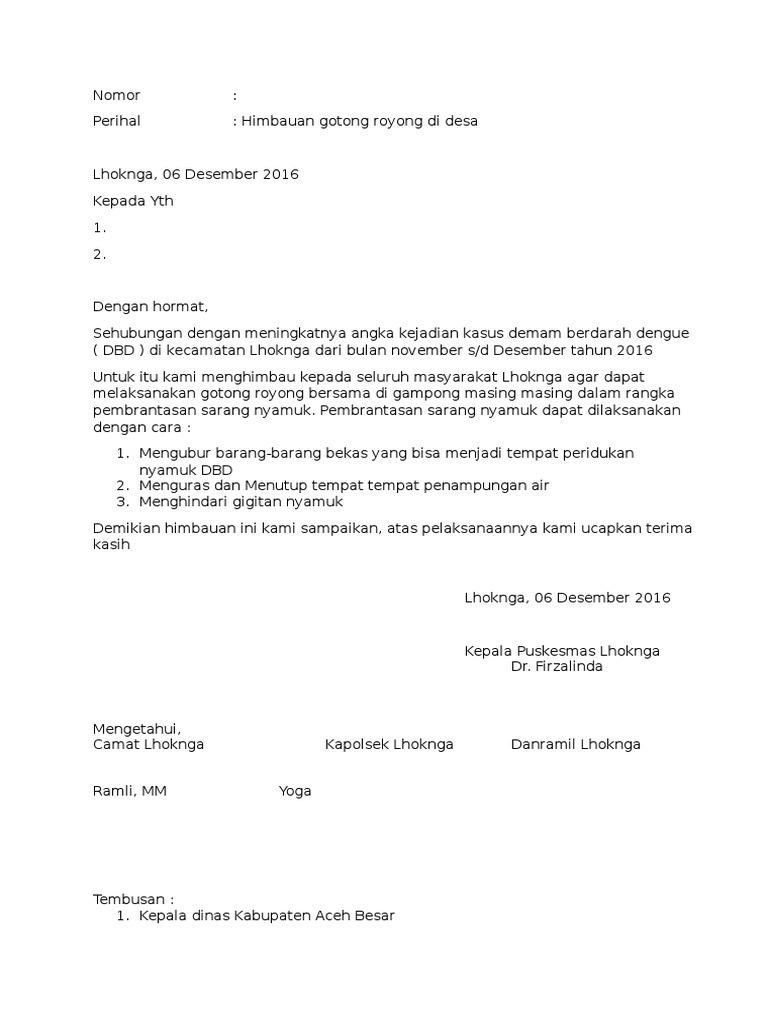 Surat Himbauan Goro