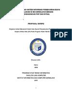 Proposal Skripsi Kapita Selekta
