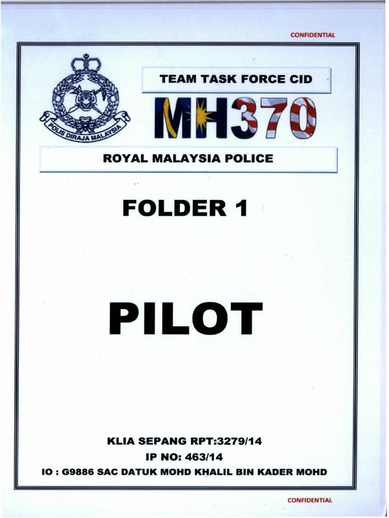 Mh370 rmp folder 1 pilot 208 pages fandeluxe Images