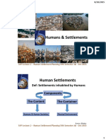 Lecture 2 Humans & Settlements