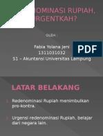Redenominasi Rupiah, Urgentkah