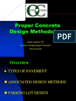 Concrete design methodology