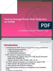 Peak to Average Power Ratio Reduction for OFDM