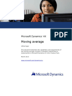 Moving Average in Microsoft Dynamics AX 2012