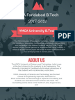 YMCA B.Tech Admission