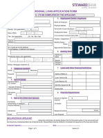 Steward Bank Individual Loan Application Form - (Customer Section)