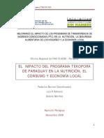 TRANSFERENCIA DE INGRESOS CONDICIONADAS (PTC) EN LA NUTRICIÓN