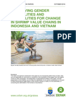 Identifying Gender Inequalities And Possibilities For Change In Shrimp Value Chains In Indonesia And Vietnam