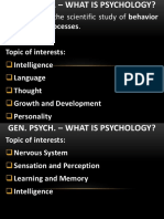 Chapter 1-Psychology as a Science
