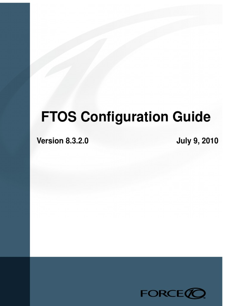 FTOS Configuration Guide   Internet Protocols
