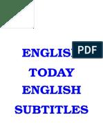 English Today 25 DVDies English Subtitles