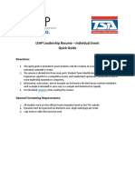 leap ce resume individual instructions  quick guide