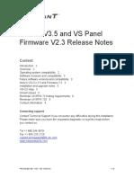 3101831-En V3.5 vs-CU V3.5 and Firmware V2.3 Release Notes