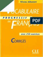 Vocabulaire Progressive Du Français Débutant Corriges