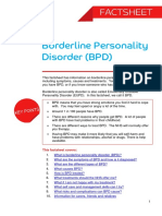 Borderline Personality Disorder BPD Factsheet