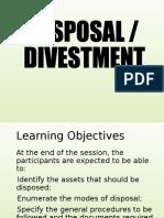 3-Disposal & Divestment