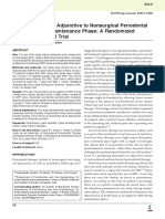 Diode Laser as an Adjunctive to Nonsurgical Periodontal Therapy During Maintenance Phase a Randomized Controlled Clinical Trial